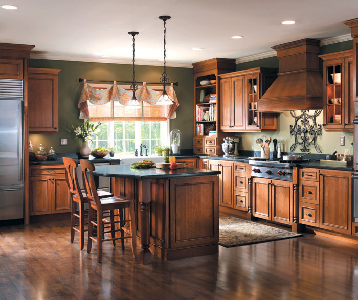 French Country Kitchen With Maple Cabinets kitchen ideas | kitchen remodeling | cement city mi