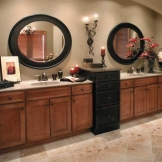 Corona door style in Maple finished in Caramel with Chocolate glaze.jpg